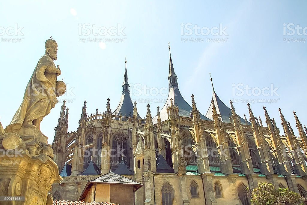 St.Barbara Church in Kutna Hora, Czech republic stock photo