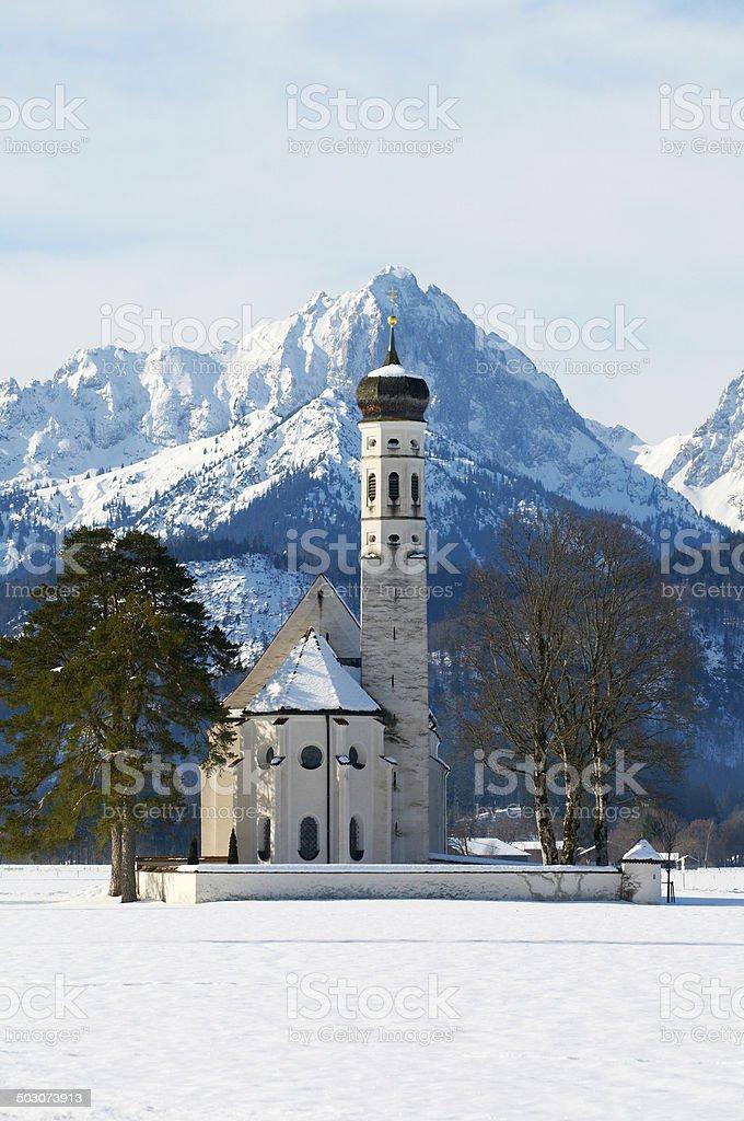 St.Coloman`s Church in Schwangau, Germany stock photo