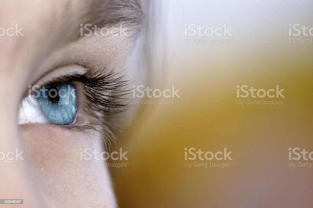 Steadfast sight in the future stock photo