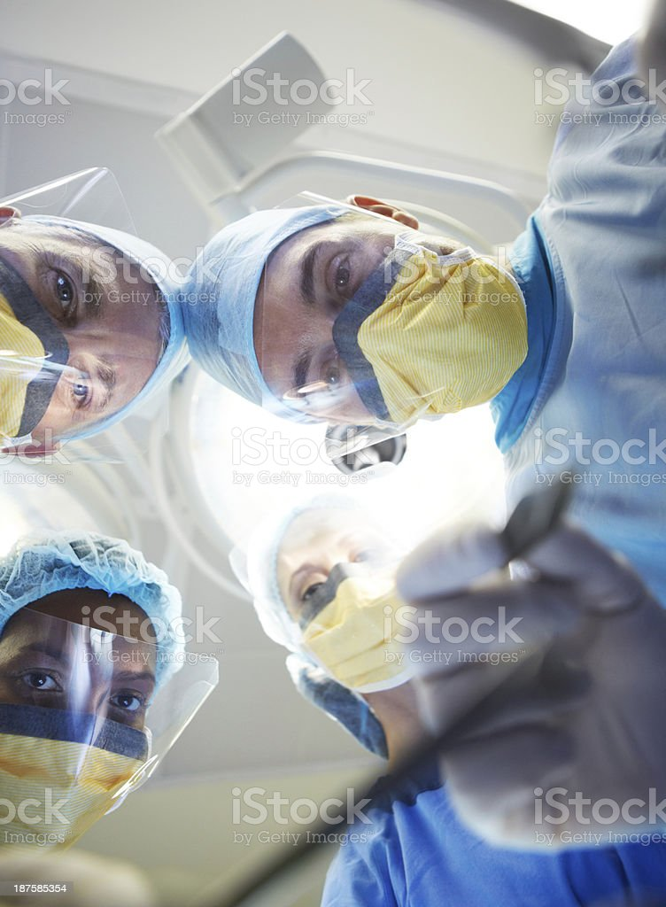 Steady hands to get the job done royalty-free stock photo