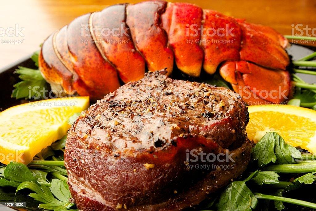Steak & Lobster stock photo