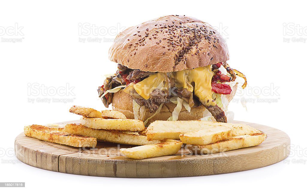 Steak and Cheese Burger stock photo