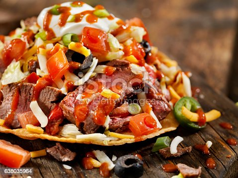 Steak and Cheese Tostada  - Photographed on Hasselblad H3D2-39mb Camera