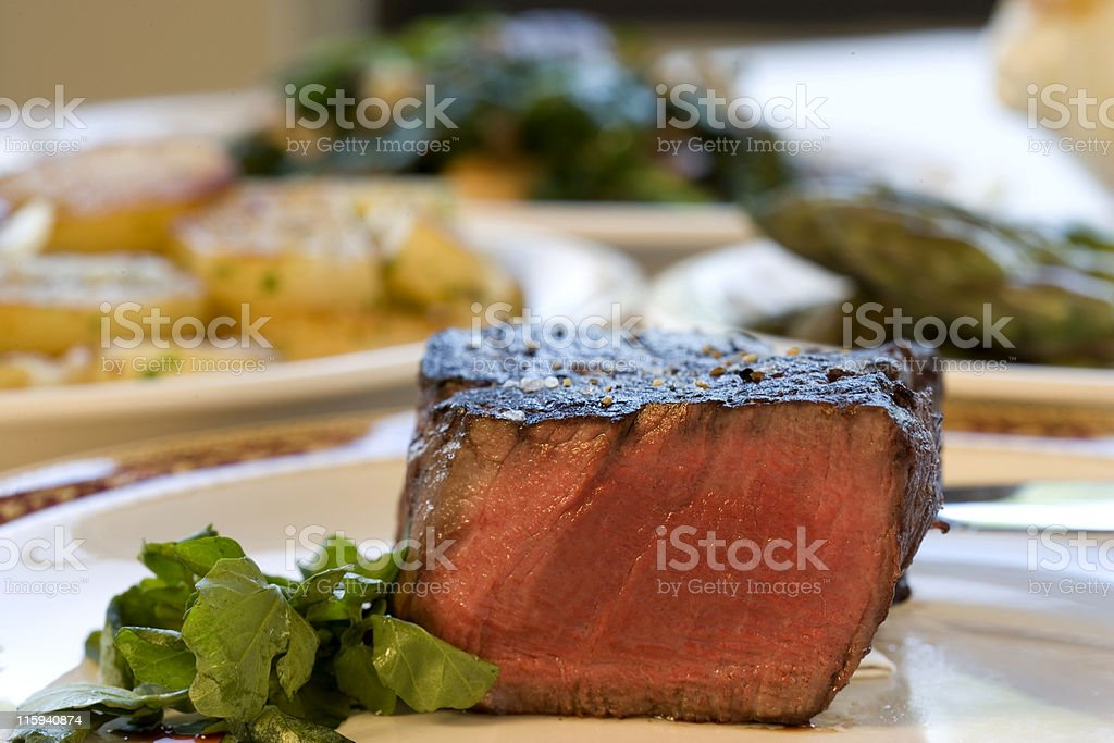 Steak and Potatoes royalty-free stock photo