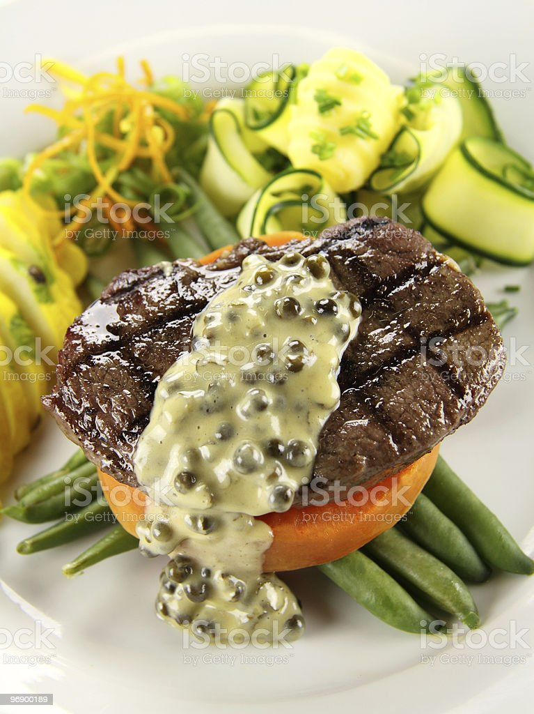 Steak And Sweet Potato royalty-free stock photo