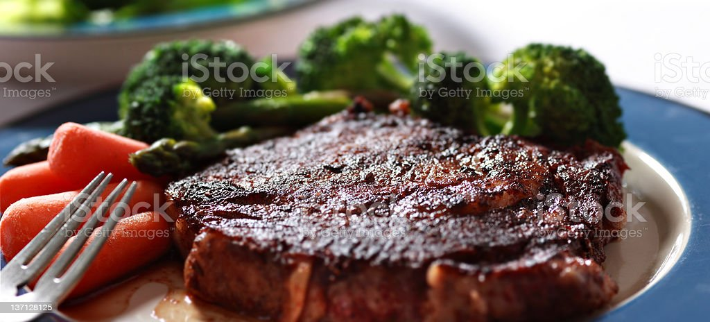 Steak and vegetables royalty-free stock photo