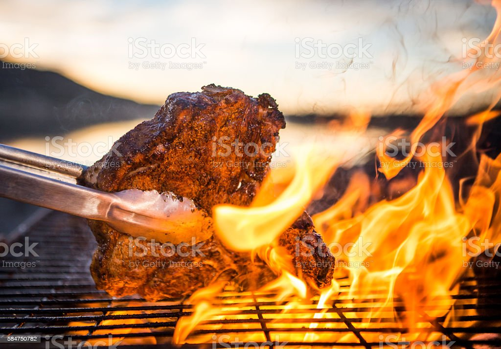 Steak Bbq stock photo