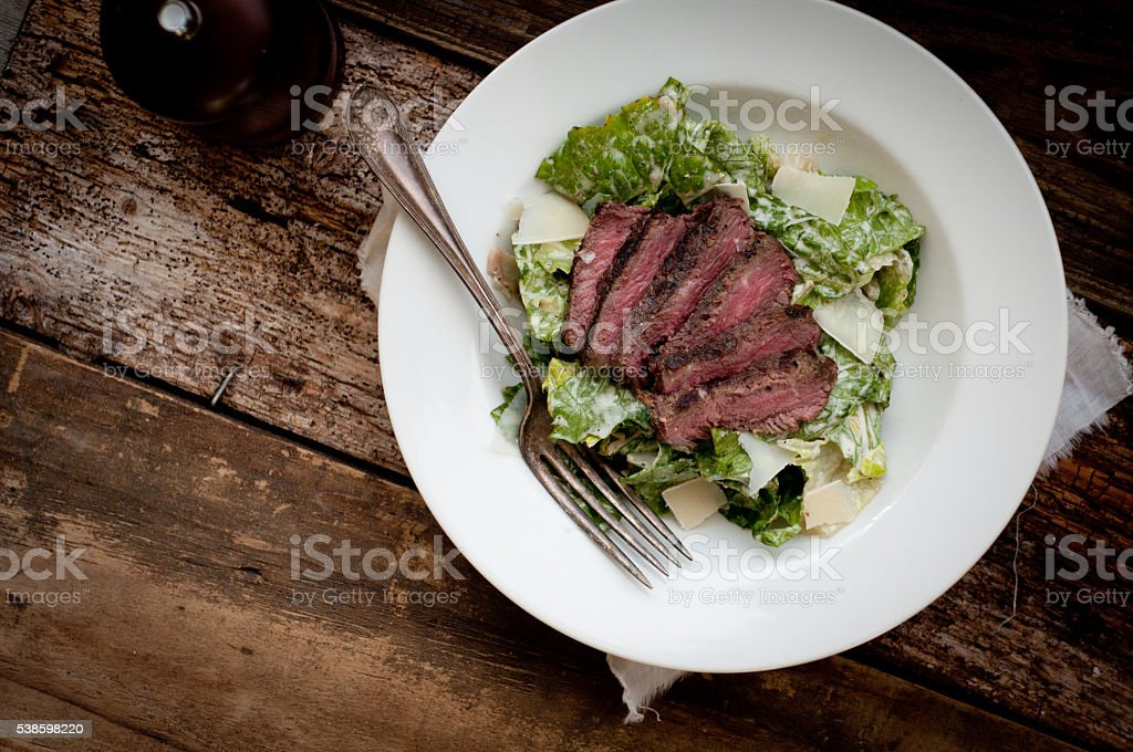Steak Caesar Salad stock photo