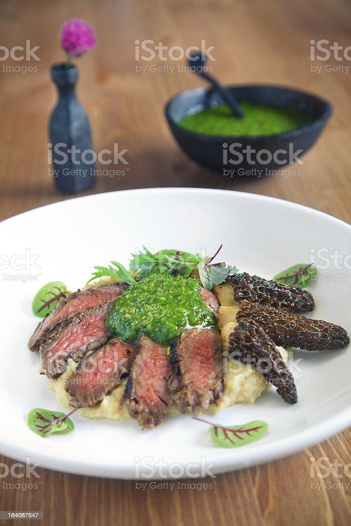 Steak & Chimichurri royalty-free stock photo