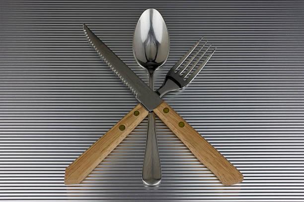 Steak Cutlery Set stock photo
