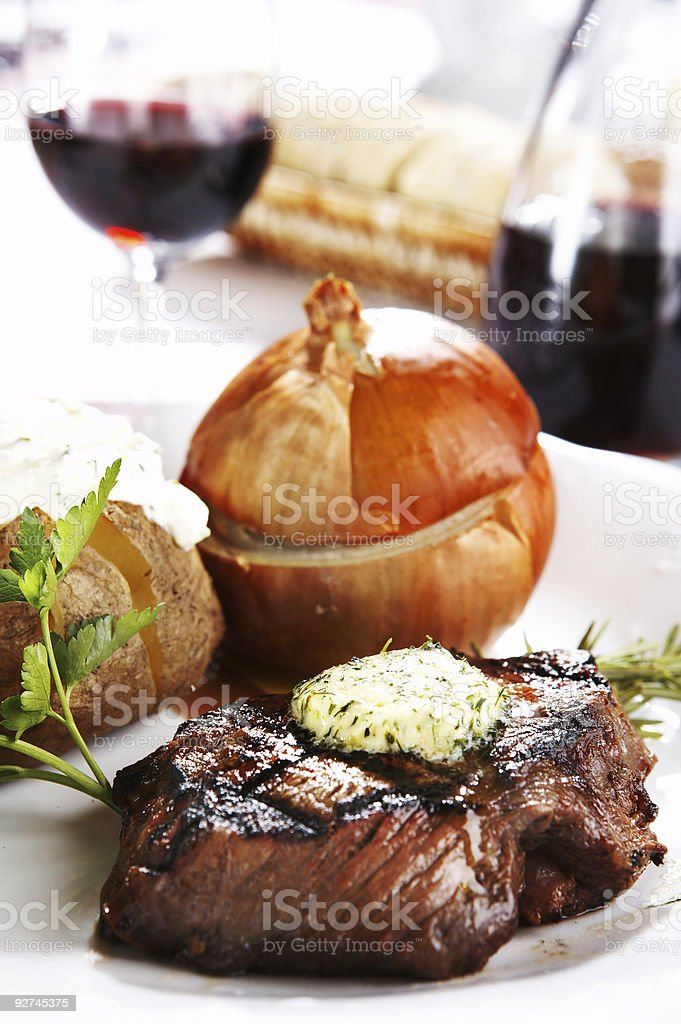 Steak Dinner royalty-free stock photo
