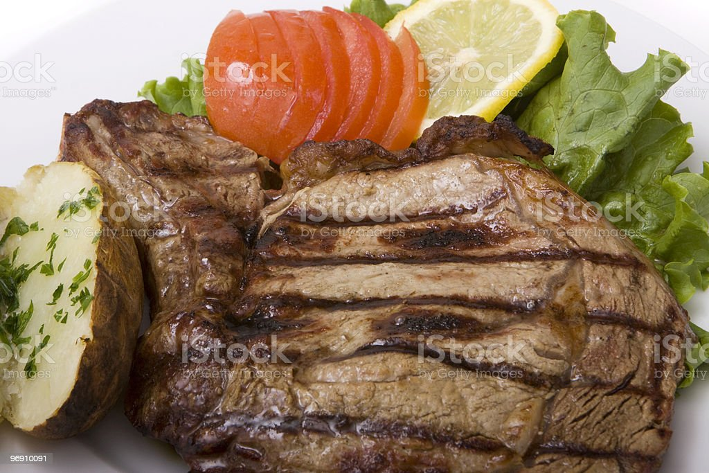 Steak dinner royalty-free stock photo