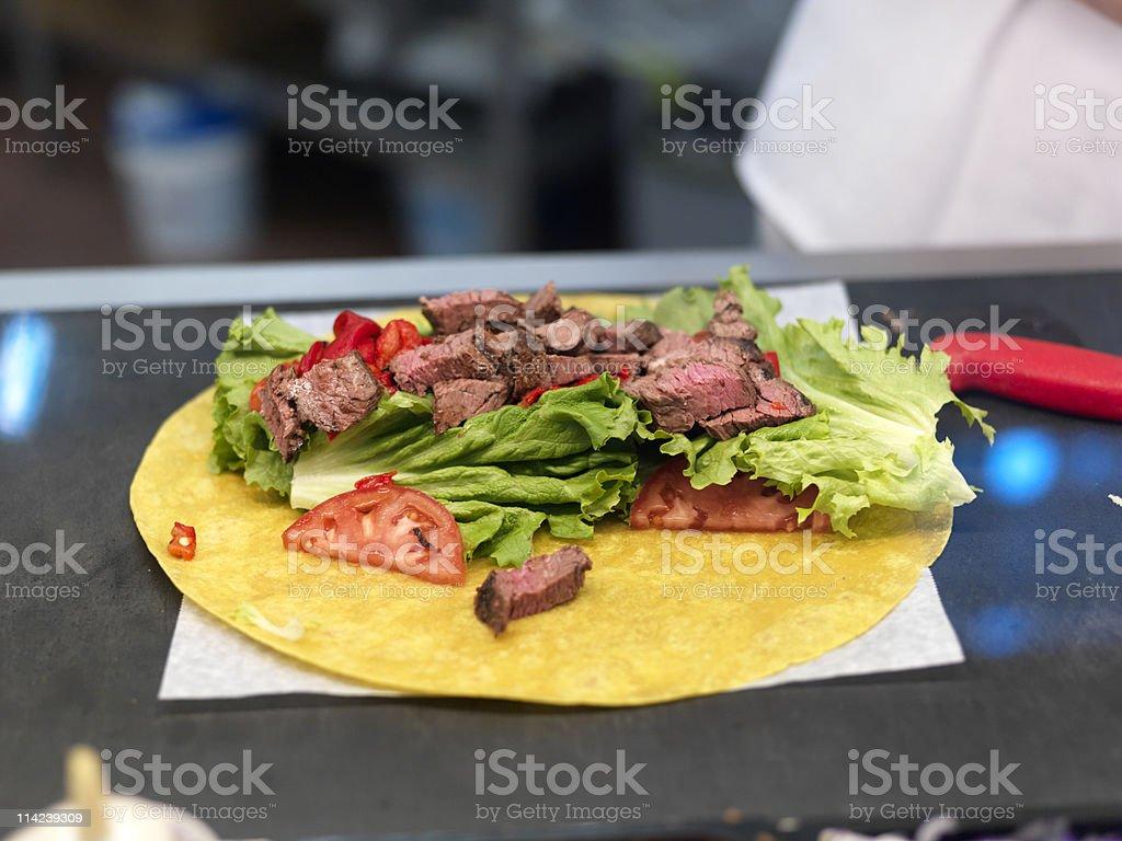 steak fajita wrap royalty-free stock photo
