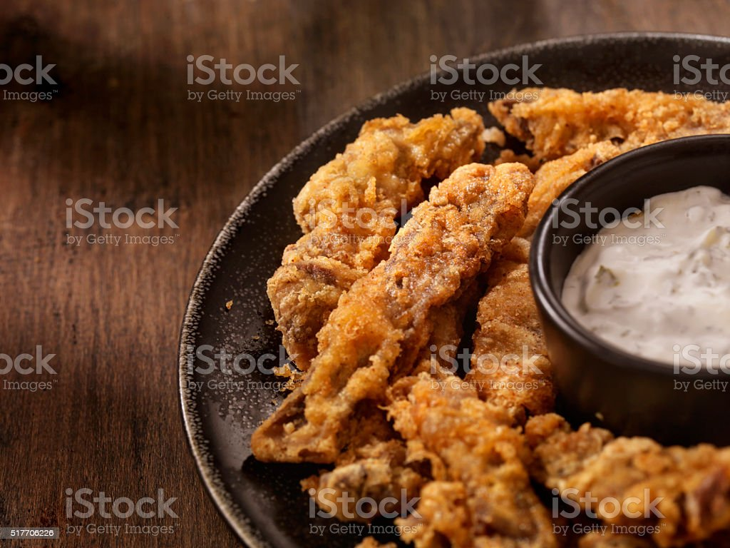 Steak Fingers with Dip stock photo