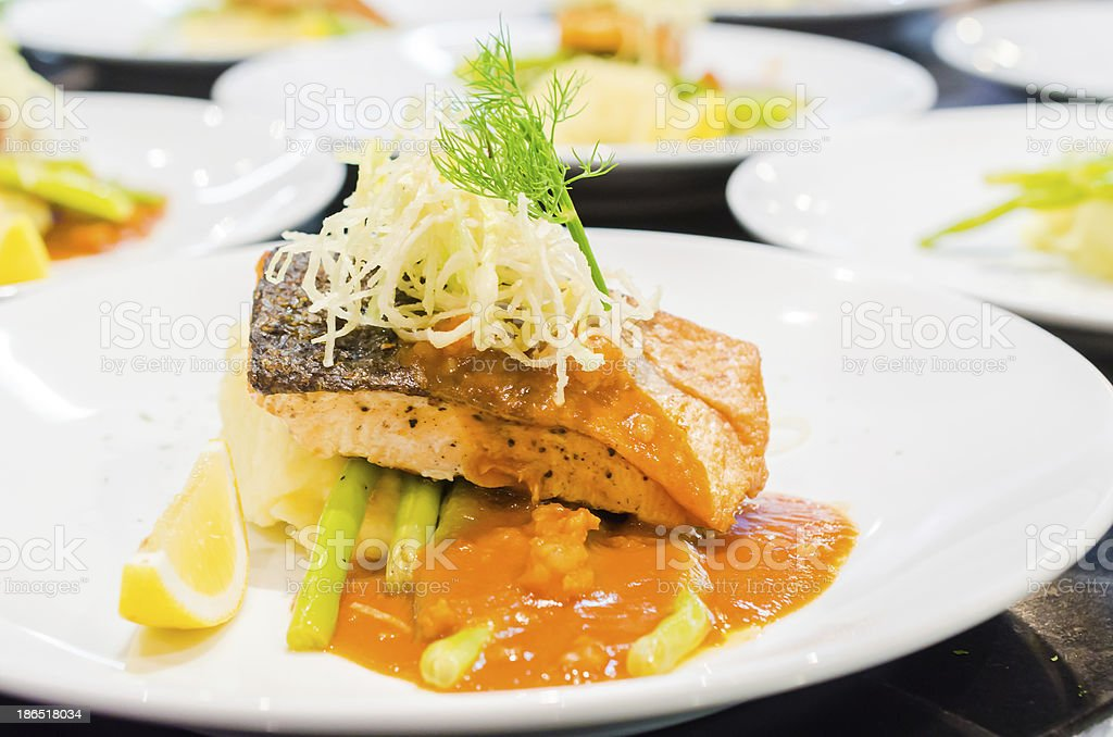 Steak fish royalty-free stock photo