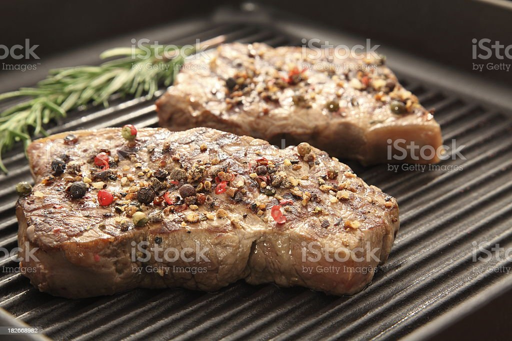 steak for two stock photo