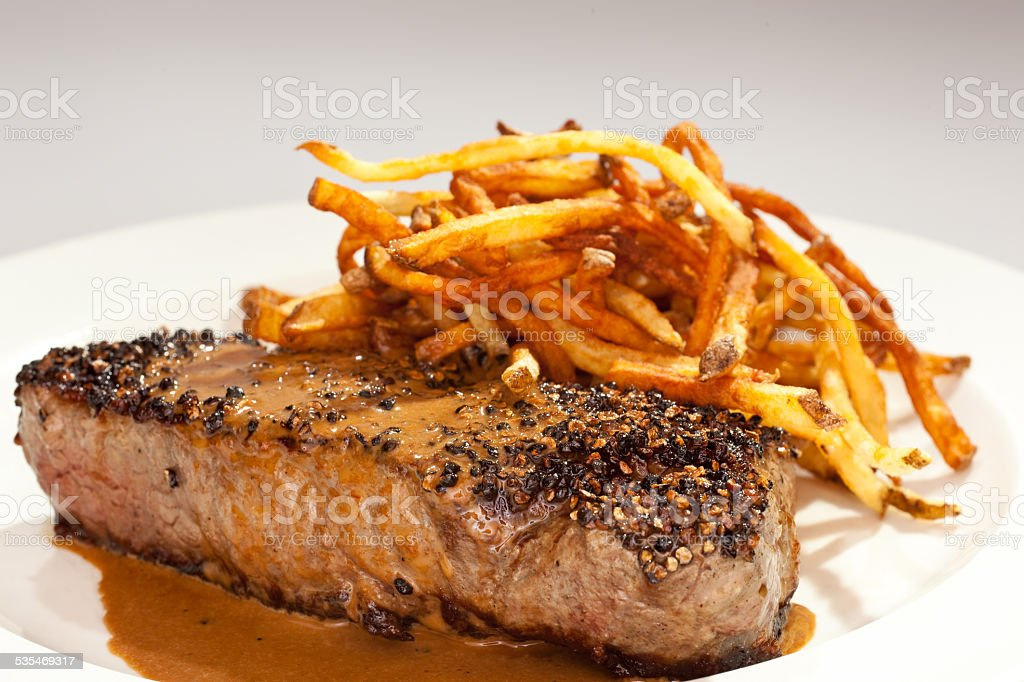Steak Frites stock photo