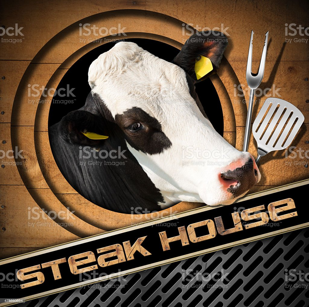 Steak House - Menu Design stock photo