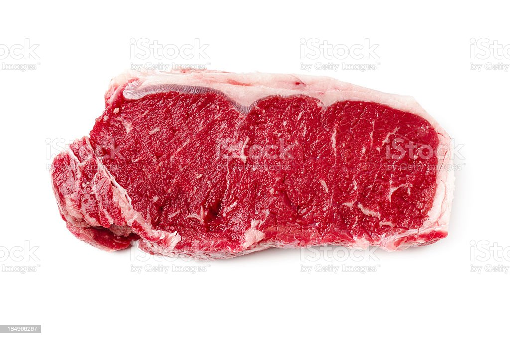 Steak Isolated on White stock photo