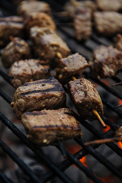 Steak Kebabs stock photo