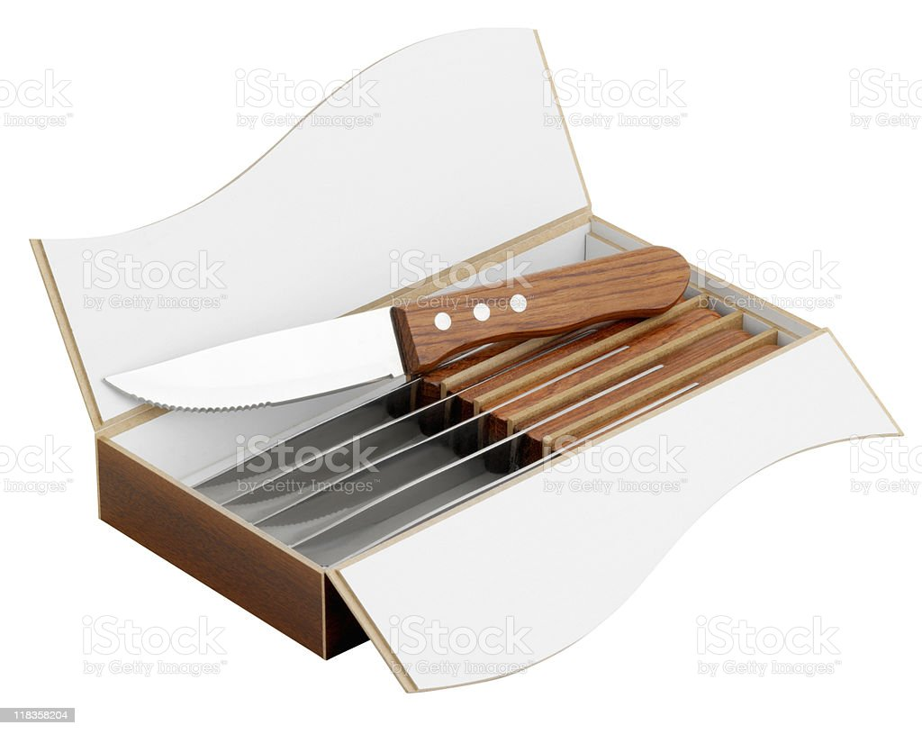 Steak Knife Gift Box stock photo
