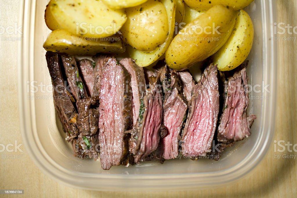 steak leftovers stock photo