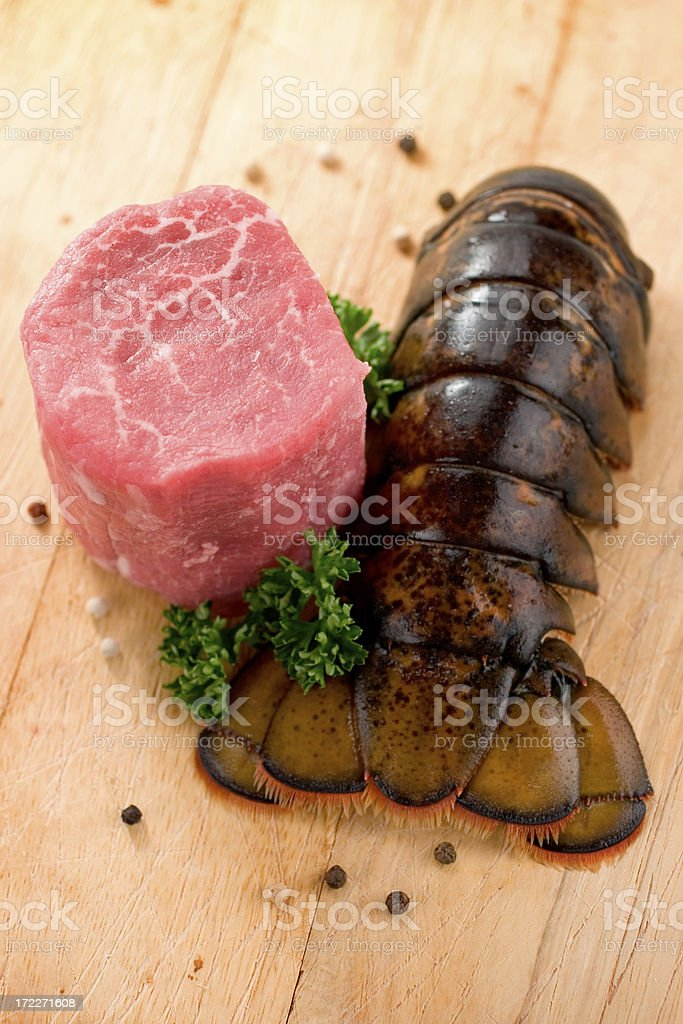 Steak & Lobster stock photo