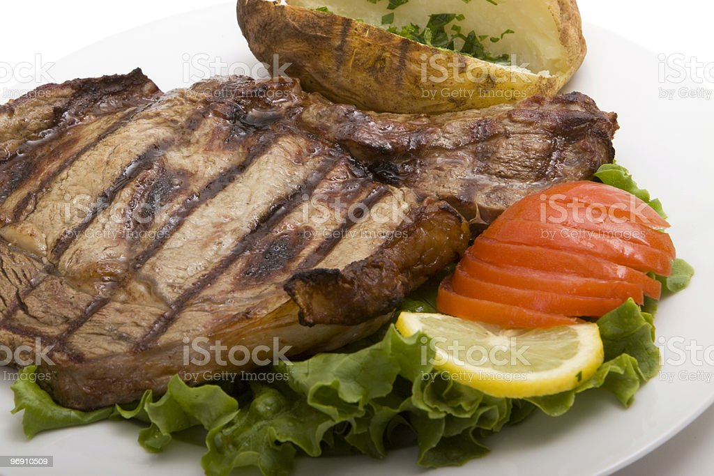 Steak meal royalty-free stock photo