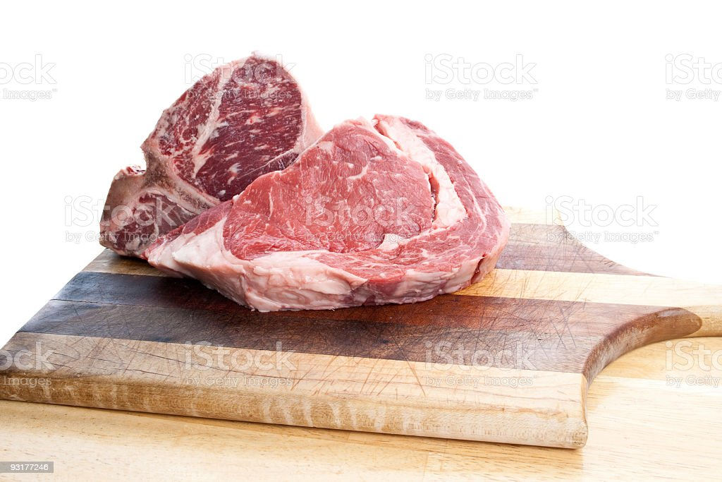 Steak on a cutting board royalty-free stock photo