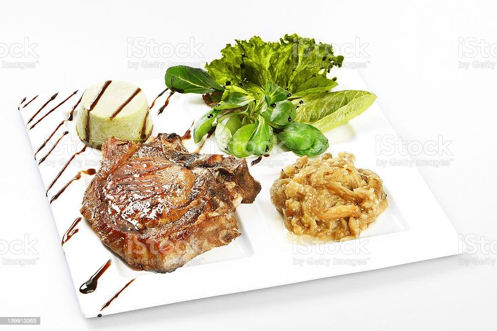 Steak on white background royalty-free stock photo