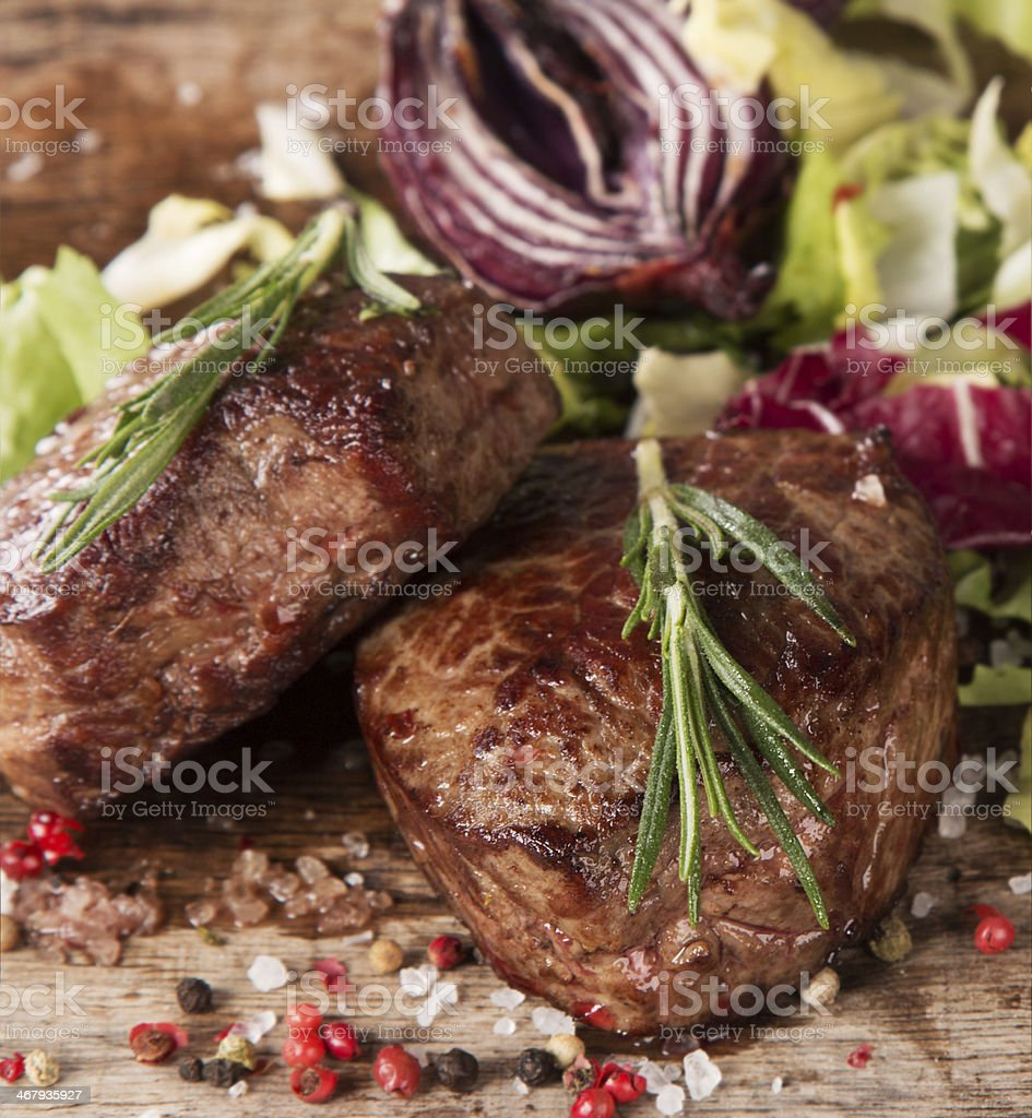 steak on wood royalty-free stock photo