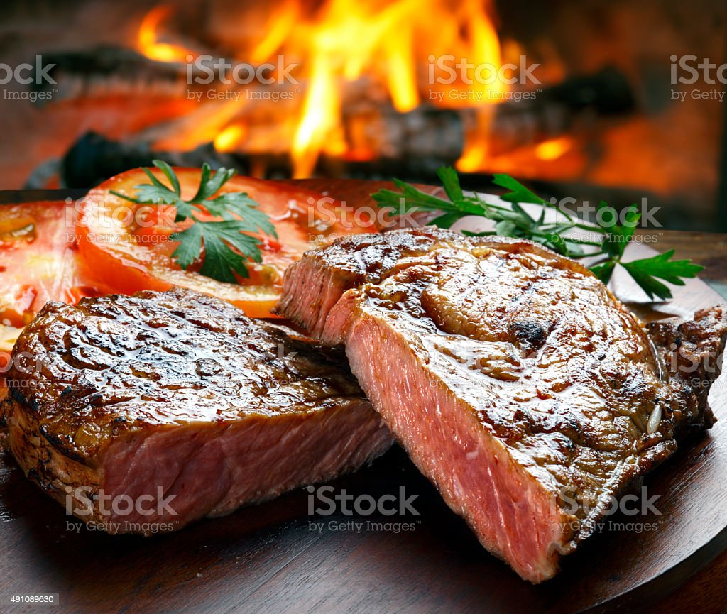 BBQ steak stock photo