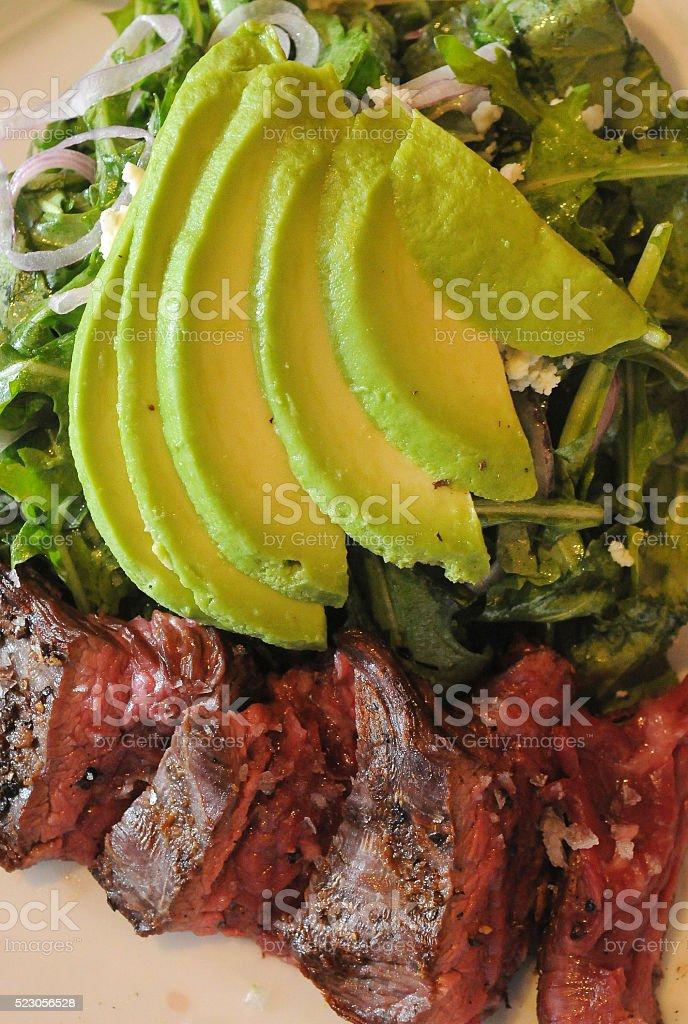 Steak Salad Awaits stock photo