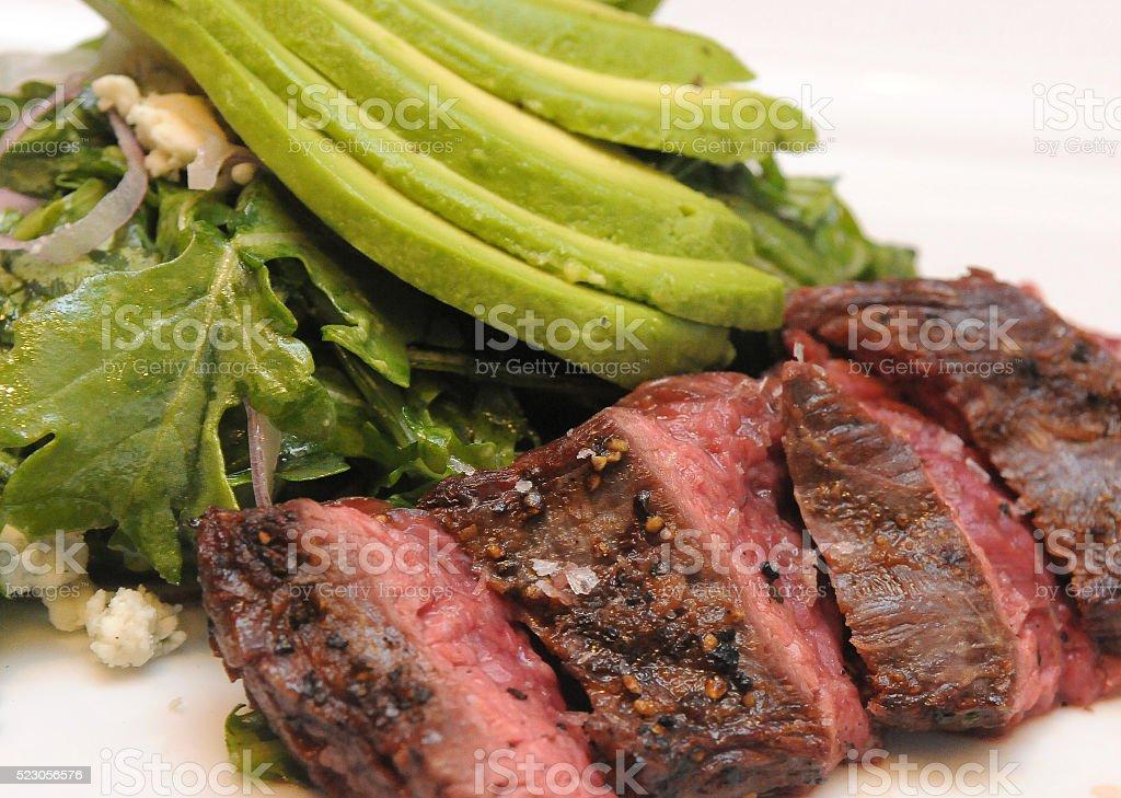 Steak Salad Full stock photo