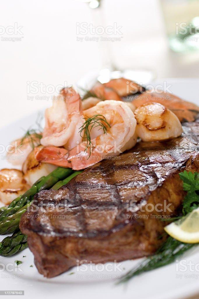 Steak & Seafood royalty-free stock photo