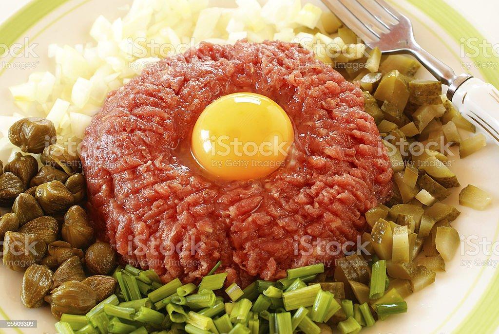 Steak tartare royalty-free stock photo