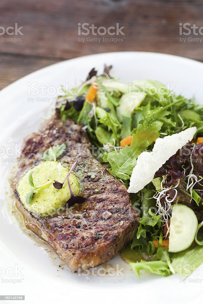 Steak with Salad royalty-free stock photo