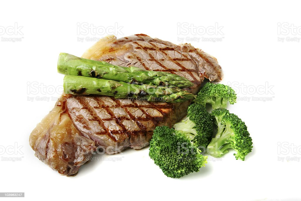 steak with vegetables royalty-free stock photo