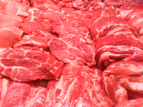 Steaks From Beef And Pork Meat Stock Photo & More Pictures of Animal Body Part