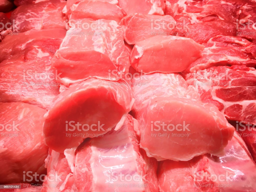 Steaks from beef and pork meat royalty-free stock photo