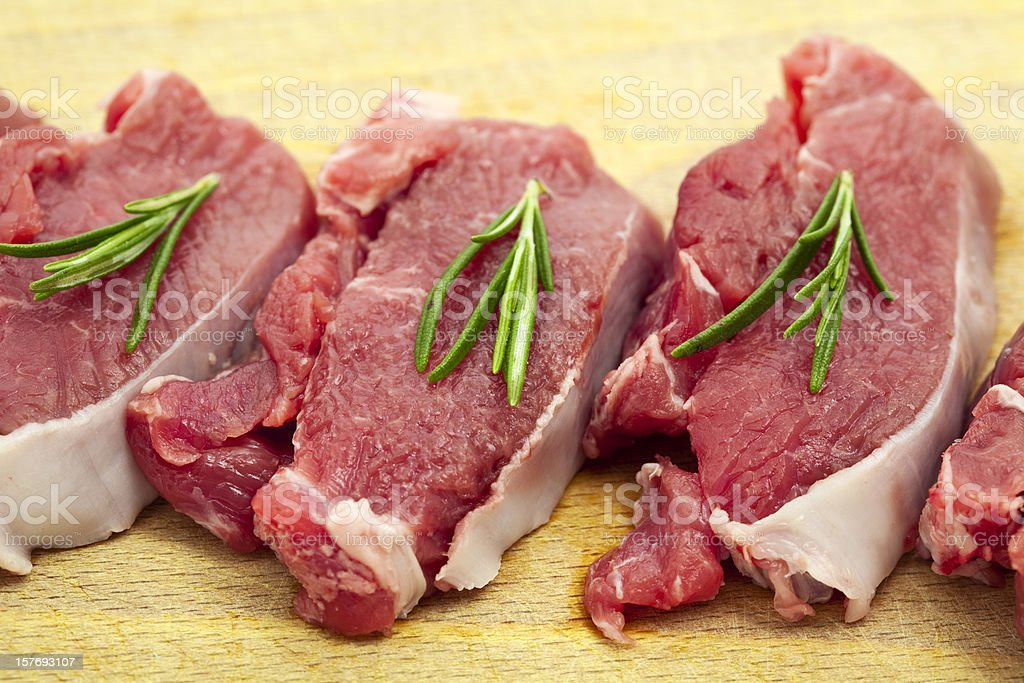 steaks of lamb royalty-free stock photo
