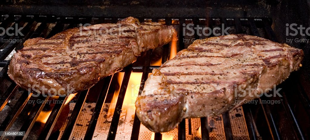 Steaks on the Grill royalty-free stock photo
