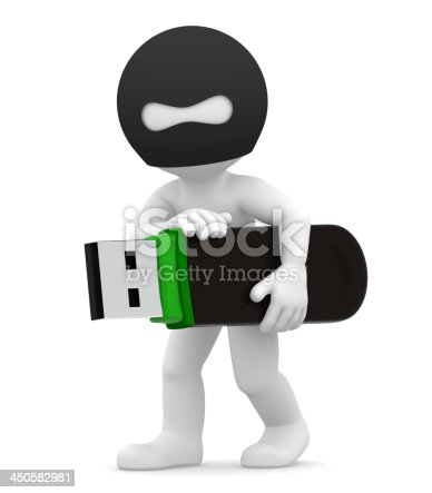 istock Stealing Information. Computer crime concept. Isolated 450582981