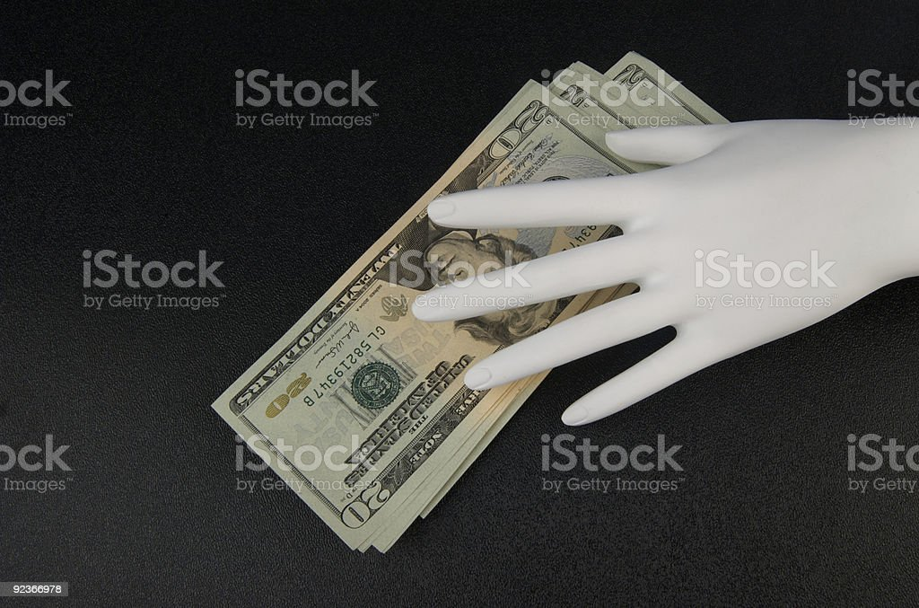 Stealing Money royalty-free stock photo