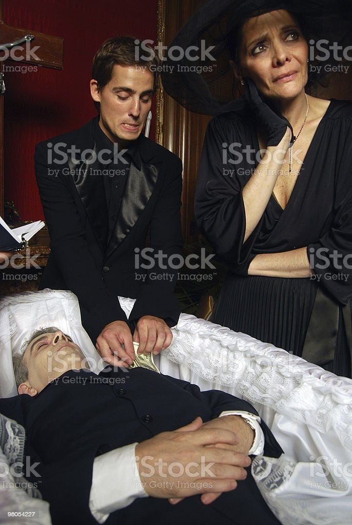 Stealing the dead royalty-free stock photo