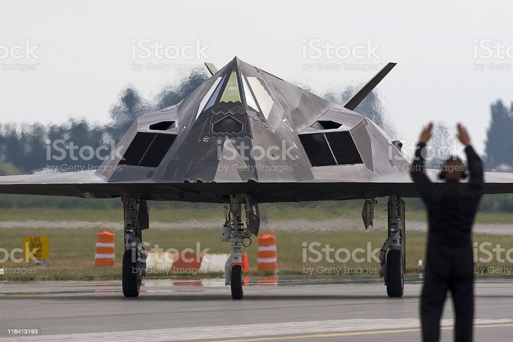Stealth Aircraft royalty-free stock photo