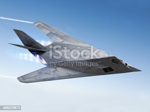 istock Stealth aircraft 486329870