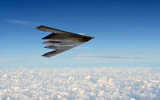 Stealth Bomber In Flight Stock Photo - Download Image Now