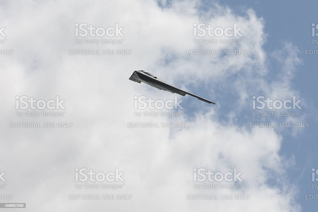 B-2 Stealth Bomber In Flight royalty-free stock photo