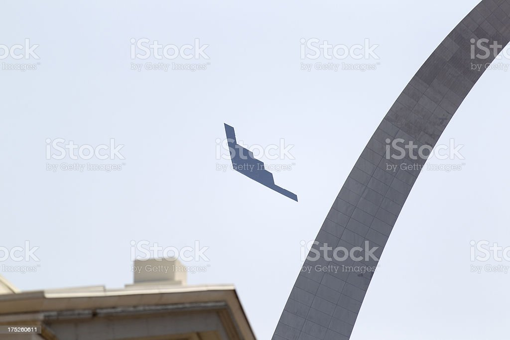 B2 stealth bomber stock photo